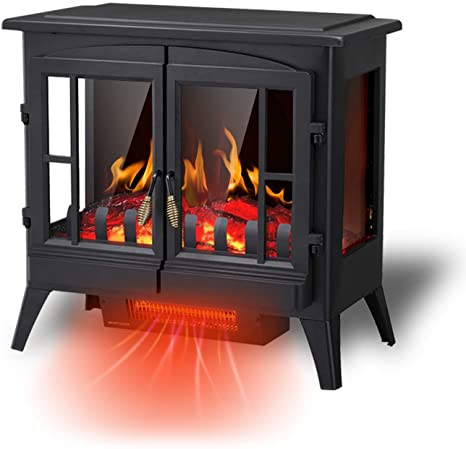 9. R.W.FLAME Electric Fireplace Infrared Stove Heater