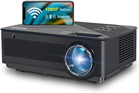 7. FANGOR Native 1080p Full HD Projector, WiFi Projector