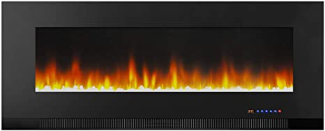10. AmazonBasics Wall-Mounted Recessed Electric Fireplace
