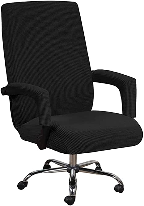 8. GAEA.TEX Office Chair Cover Computer Chair Boss Swivel Chair Slipcover Durable Stretch Soft Protector with Arm Covers