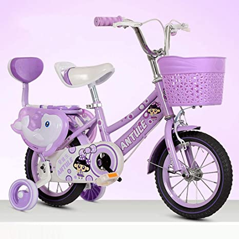 4. 12 Inch,14 Inch,16 Inch,18 Inch Kid's Bike, Steel Frame Children Bicycle Little Princess Style, with Training Wheel