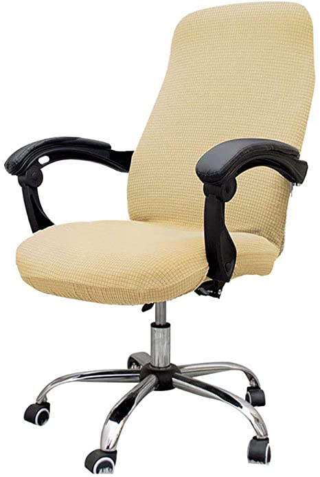 6. Melanovo Computer Office Chair Covers, Universal Stretch Desk Chair Cover for Rotating High Back Chair