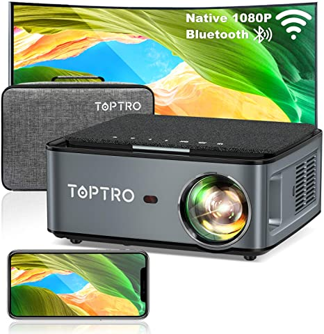 8. TOPTRO Bluetooth WiFi Projector