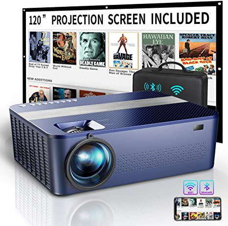 9. XNoogo WIFI Native 1080P Projector with 120