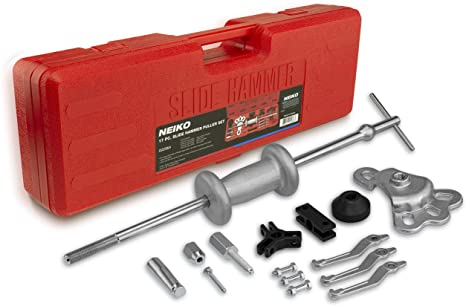 3. Neiko 02236A Automotive Slide Hammer Puller Kit, 17 Piece | Steel T Handle Bar with Cr-V Steel Jaw Attachments