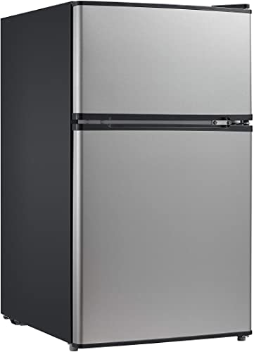 1. Midea 3.1 Cu. Ft. Compact Refrigerator, WHD-113FSS1 - Stainless Steel