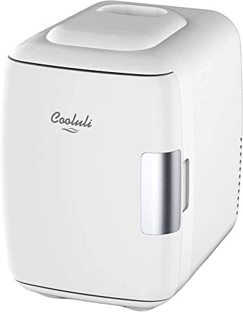 1. Cooluli Mini Fridge Electric Cooler and Warmer (4 Liter / 6 Can): AC/DC Portable Thermoelectric System