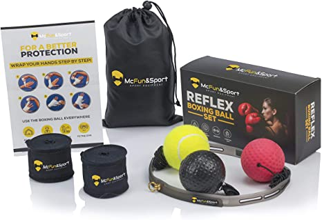 4. McFitness Boxing Punch Ball, Reflex Speed Ball, Boxing Headgear, MMA Gear and Boxing Equipment