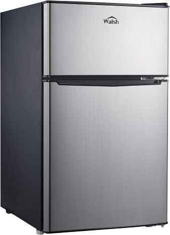 4. Walsh WSR31TS1 Compact Refrigerator, Dual Door Fridge, Adjustable Mechanical Thermostat , 3.1 Cu.Ft, Stainless Steel Look
