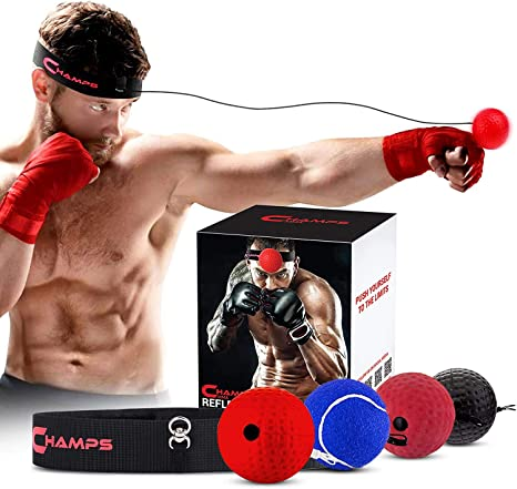 3. Champs MMA Boxing Reflex Ball - Boxing Equipment Fight Speed, Boxing Gear Punching Ball Great