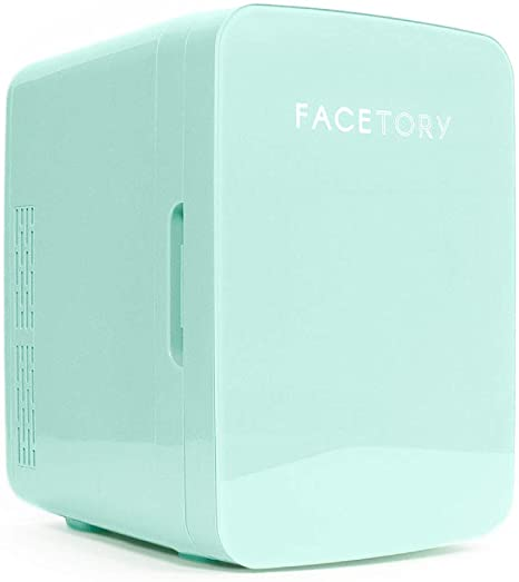 9. FaceTory Portable Mint Beauty Fridge (10-L / 12 Can) with Heat and Cool Capacity