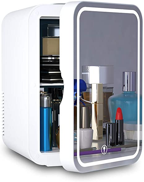 5. Mini Fridge 6 Liter AC/DC Portable Beauty Fridge Thermoelectric Cooler and Warmer for Skincare, Bedroom and Travel