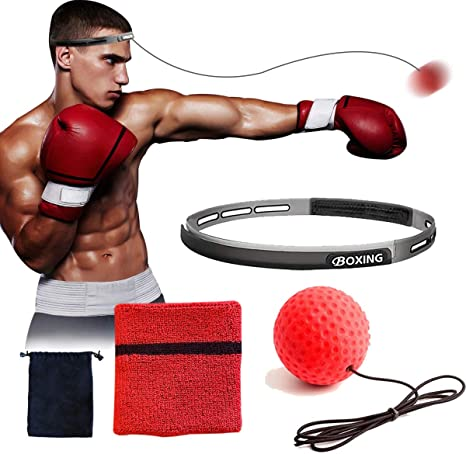 7. NLA Reflex Ball Boxing Equipment with Sweat Band | Adjustable for Adults and Kids | Workout at Home