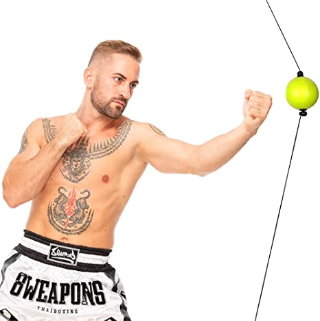 6. FCL Reflex Ball Set Boxing Ball with Suction Cups and Ceiling Mount Home Training Equipment Speed Focus