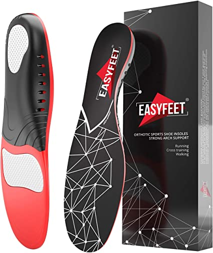 4. Plantar Fasciitis Arch Support Insoles for Men and Women Shoe Inserts
