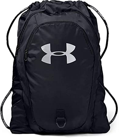 4. Under Armour Adult Undeniable 2.0 Sackpack , Black (001)/Silver , One Size Fits All