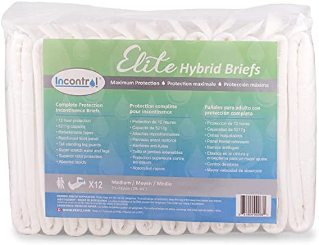 3. InControl - Elite Hybrid Adult Incontinence Briefs