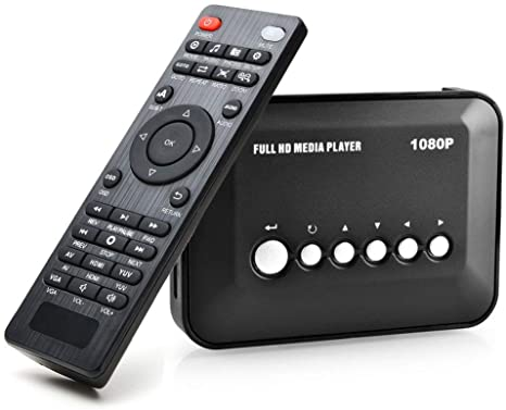 5. AGPtek 1080P HDMI TV Media Player with HDMI / YPbPr / AV Output, USB/SD Ports with Remote Control