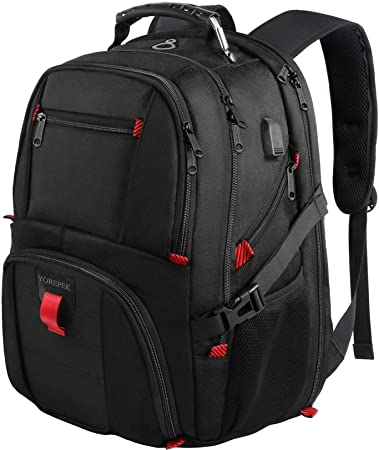2. YOREPEK Backpack for Men, Extra Large 50L Travel Backpack with USB Charging Port, TSA Friendly Business College Bookbags