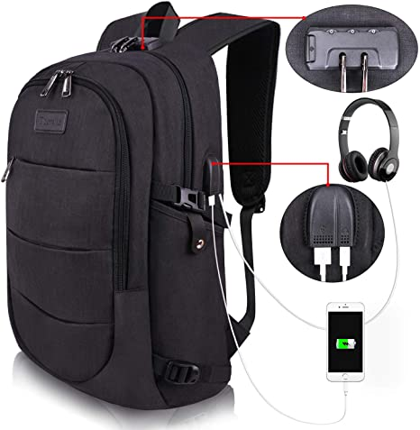 1. Travel Laptop Backpack Water Resistant Anti-Theft Bag with USB Charging Port and Lock 14/15.6 Inch Computer Business Backpacks