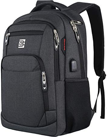 4. Laptop Backpack, Business Travel Anti-Theft Slim Durable Laptops Backpack with USB Charging Port, Water Resistant College School Computer Bag