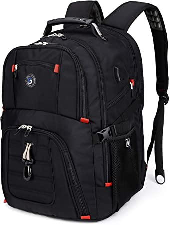 3. Extra Large 50L Travel Laptop Backpack with USB Charging Port Fit 17 Inch Laptops for Men Women