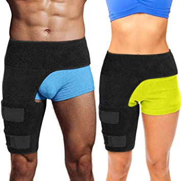 6. Hip Brace Thigh Compression Sleeve – Hamstring Compression Sleeve & Groin Compression Wrap for Hip Pain Relief