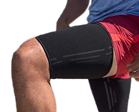 4. Thigh Compression Sleeve - Hamstring Compression Sleeve (Pair) for Quad & Groin Pain Relief & Recovery