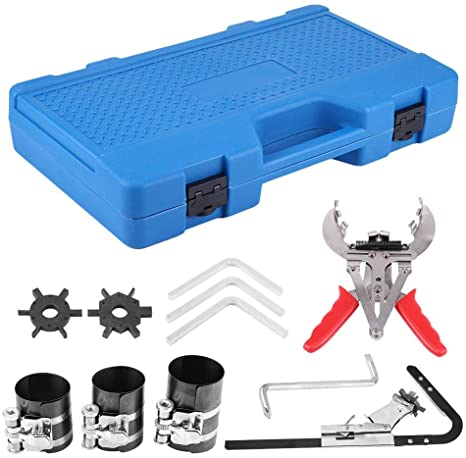 9. Piston Ring Compressor Kit Professional Piston Ring Service Tool Set Auto Engine Motor Cleaning Ring Expander Compressor