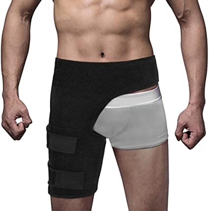 8. Hip Brace for Men Women Sciatica Pain Relief Wrap Groin Thigh Sleeve Compression Support