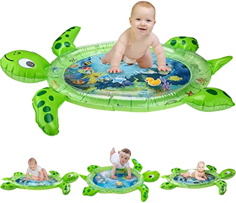 8. gebra Inflatable Tummy Time Water Mat Sea Turtle Shape Infants & Toddlers Play Mat Toy