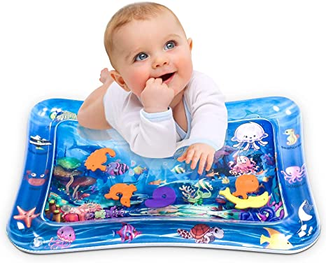 10. Infinno Inflatable Tummy Time Mat Premium Baby Water Play Mat for Infants and Toddlers Baby Toys