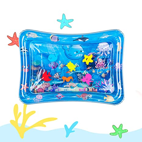 1. Tummy Time Baby Water Mat Inflatable Baby Play Mat Activity Center for Infant Baby Toys 0 to 24 Months