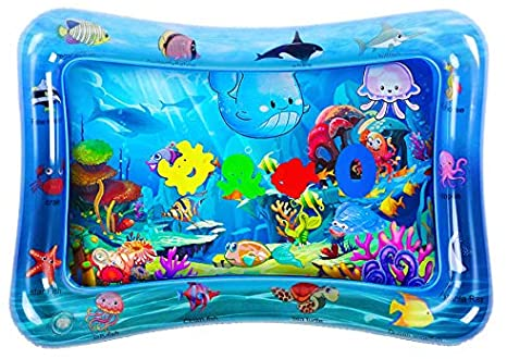 6. HEMRLY Tummy Time Baby Play Mat, Inflatable Splash Water Mat for Infant & Toddlers