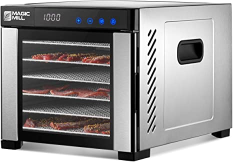 5. Magic Mill Food Dehydrator Machine | 7 Stainless Steel Trays | Adjustable Timer, Temperature Control | Dryer for Jerky